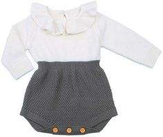 TiendaDeLage Unisex Newborn Baby Girls Boys 3-Pack Solid Rufle Basic Romper Bodysuit Fall Clothes