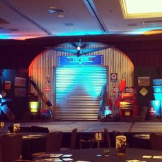 Stage set up for a Top Gun themed #event. #decor #topgun