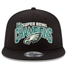 575043e89 Philadelphia Eagles Hat Super Bowl Champions LII 52 Adjustable 9FIFTY Black  OSFA Super Bowl Hats