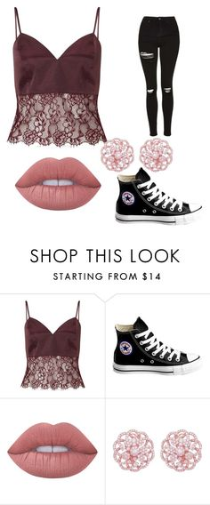 """""""Untitled #45"""" by sydneyoo on Polyvore featuring Miss Selfridge, Converse and Lime Crime"""