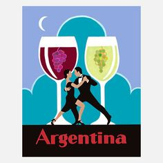 I liked this design on #Fab. Wine Regions Argentina 13x16