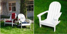 Perinteiset puutarhatuolit voi nikkaroida itsekin. Katso Unelmien Talo&Kodin ohje ja tee itse amerikkalaiset Adirondack-puutarhatuolit!