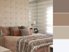 20 paletas de cores para quarto de casal para usar na decoração Home Design Decor, House Design, Home Decor, Double Room, Color Shades, New Room, Hygge, Decoration, Sweet Home