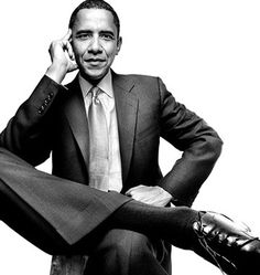 President Obama--I love this photo of him.  It's sophisticated and not him trying to look affable.