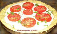 τάρτα ξινομυζήθρας με ντομάτα