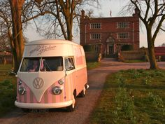 Florence at Soulton Hall a beautiful sunset....♡  ice cream van hire & wedding hire http://www.pollys-parlour.co.uk/