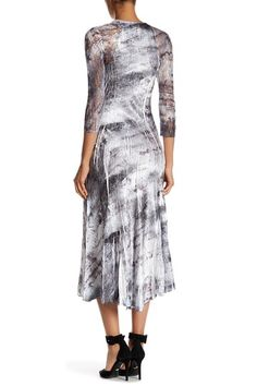 Lace Sleeve Midi Dress by KOMAROV on @nordstrom_rack
