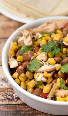 Crockpot Mexican Chicken   #slowcooker #recipe #easy #dinner