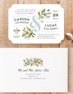 Pretty Flower Wedding Invite