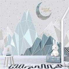 3D Modern children's room wallpaper - 160W x 100H inches / Non-woven Paper