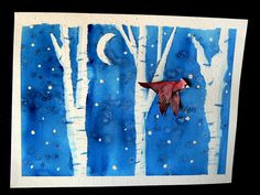 """art activity based on Stopping by Woods on a Snowy Evening by Robert Frost  """"narration"""" via art"""