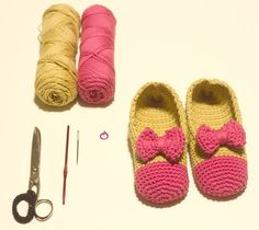 DIY zapatillas en dos colores a ganchillo por Mikita Lapena :)