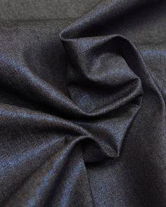 Cotton Denim Fabric   Blue Metallic   Truro Fabrics