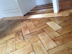 Reclaimed maple and antique oak parquet flooring delight