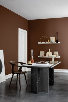 If you want to know what colors in interior design will be trending this season, then you need to look into the fresh catalogs of famous manufacturers of ✌Pufikhomes - source of home inspiration Terracotta, Color Trends 2018, 2018 Color, Trending Paint Colors, Turbulence Deco, Norwegian Wood, Brown Interior, Interior Colors, Interior Paint