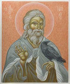 """Joanna Zabagło """"Święty prorok Eliasz"""" Byzantine Icons, Orthodox Christianity, Old Testament, Orthodox Icons, Pet Birds, Saints, Pets, Drawings, Painting"""