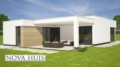 NOVA-HUIS moderne bungalow plat dak energieneutraal betaalbaar bouwen A35