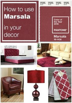 Using Marsala in the Home: Pantone Color of the Year 2015 @pantonecolor