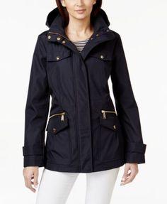MICHAEL KORS Michael Michael Kors Hooded Anorak Jacket. #michaelkors #cloth # jackets