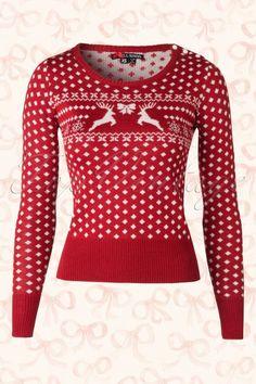 Bunny - 50s Belle Jumper in Red Wool