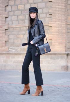 Crop Flare Pants and Boots in Hair Color closing the gap.