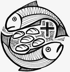 Fig five loaves and two fish PNG and Clipart Bible School Crafts, Bible Crafts, Christian Symbols, Christian Art, Catholic Art, Religious Art, Scripture Art, Bible Art, Thomas The Apostle