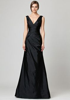 Simple black evening gowns style