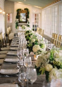 Reception Table - Clifton Inn. Designed by Easton Events - Destination Wedding Planners with offices in Charleston, SC and Charlottesville, VA photo by Jen Fariello