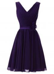Women's Elegant Ruffled Sleeveless Cocktail Bridesmaid Dress