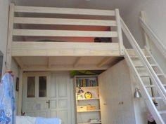 hochbett selber bauen mit materialliste und bauanleitung for the home pinterest lofts. Black Bedroom Furniture Sets. Home Design Ideas