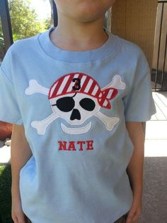 Pirate Shirt...bet i can make one like this!