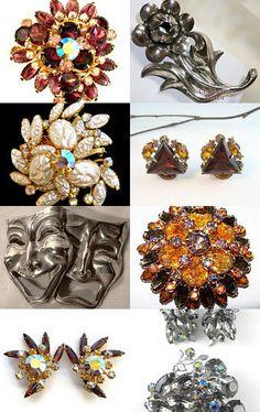 #Vintage Beau Jewels rhinestone earrings @bohemiantrading #jewelry #voguet