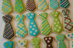 Neck tie cookies Bow ties also available by Askanam on Etsy