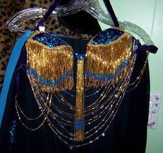 New W025 Tribal Vintage Belly Dance Costume Outfit Set Bra Belt Carnival 3 PCS