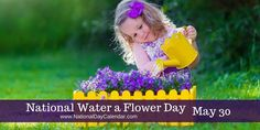 Make watering fun & find a little one to help! They love getting wet! #WaterAFlowerDay