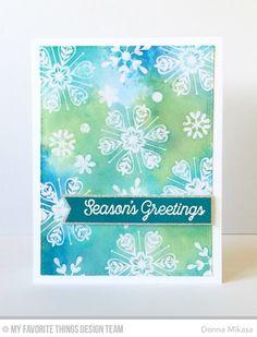 Snowflake Sparkle Card Kit - Donna Mikasa    #mftstamps