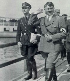 Adolf Hitler with Rudolf Hess, photo of a more casual looking hitler.