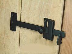 Long Bar Gate Latch, Hand-forged iron