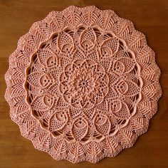 Embossed columns pineapple doily #afs