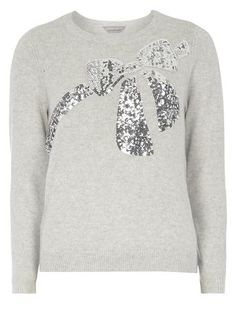 <br /><br /> Model is cm) and wears a size Christmas Bows, New Outfits, Knitwear, Jumper, Autumn Fashion, Sequins, Grey, November 2015, Model