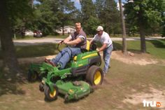 Ron makes off with riding mower. The registered owner is less than pleased.
