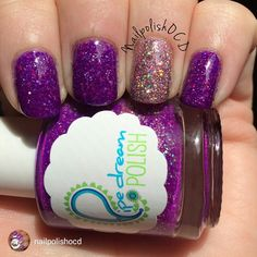 repost via @instarepost20 from @nailpolishocd This week's prompt for #A2Znails is T for Textured and since I don't like textures, I used 2 of my glitters! This is two coats of Pipe Dream Polish Club Hopping with Color Club Jitters as an accent. #pipedreampolish #colorclub #hkgirltopcoat #stuckonblu #manicure #polishaa #purplenails #polishaddict #polishaholic #polishmetogo #polishobsession #polishobsessedinthe716 #PurplePolishFreak4Life #indies #iloveindies #indiesupporter…