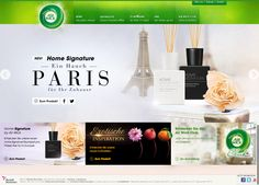 Air Wick Germany - Creation of a key visual for the product Home Signature Parisian flair. The visual is used on partner websites like DM and on the website itself. Palette, Parisian, It Works, Germany, Key, Website, Exotic, Unique Key, Pallets