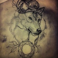 I wish this wolf was full body, love the head piece without the feather.