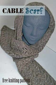 Free Pattern: Cable Scarf by Melanie Smith