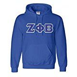"The ""Classic"" Zeta Phi Beta hooded sorority lettered sweatshirt. This Greek Hoodie is a must for every Zeta Phi Beta on campus! Our Sweatshirts are ""unisex"" - Geared more towards men so order size accordingly."