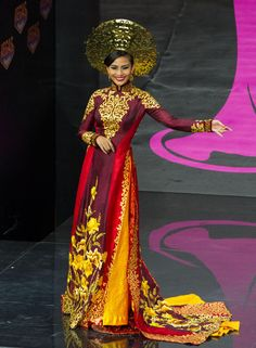 2013 Miss Universe National Costume Show -- Truong Thi May, Miss Vietnam 2013, models in the National Costume contest at Vegas Mall on November 3, 2013. (Credit: Darren Decker/Miss Universe)
