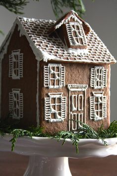 A Homemade Living - A girl, a whisk and a pair of scissors! White Gingerbread House, Gingerbread Cookie Mix, Gingerbread House Designs, Gingerbread House Parties, Gingerbread Houses, Christmas Treat Bags, Christmas Baking, Christmas Cookies, Christmas Time