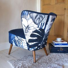 Jungle Designers Guild fabric on our 1950s 'Step into the Garden' Cocktail Chair