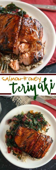 Salmon-Honey Teriyaki Salmon Recipes, Fish Recipes, Seafood Recipes, Asian Recipes, Dinner Recipes, Cooking Recipes, Healthy Recipes, Lunch Recipes, Salmon Dishes